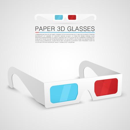glasses eye: Paper 3d glasses art object
