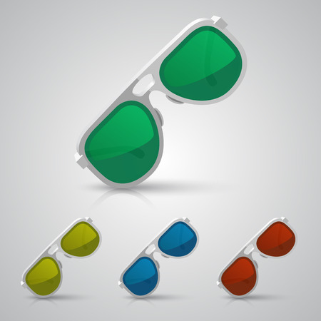 fashion glasses: Sunglasses color art set