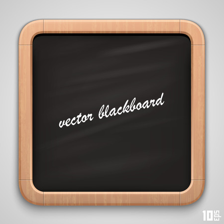 semester: School wooden board art frame Illustration