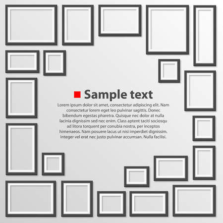 Blank frames on white background Illustration