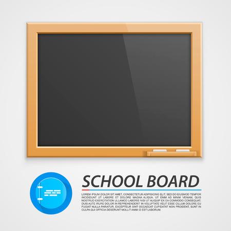 art frame: School wooden board art frame Illustration
