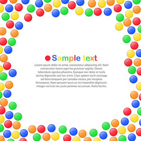lollypop: Colorful candies art banner Illustration