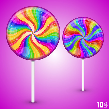 solid background: Candy lollipops art