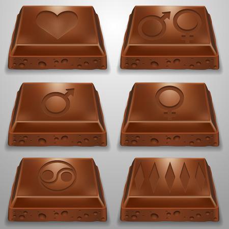 lobule: Chocolate slices