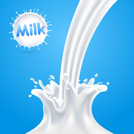 drink milk: Splashes of milk