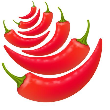 chiles picantes: Los pimientos picantes fondo