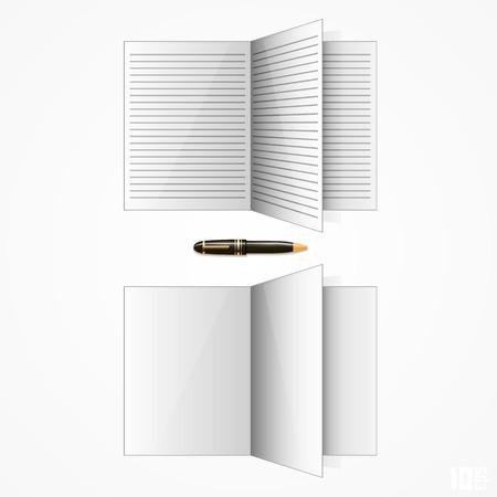 journal: Opened paper journal art