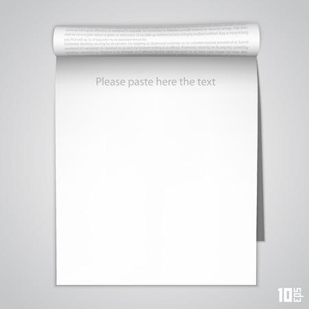 Open the vertical paper journal Illustration