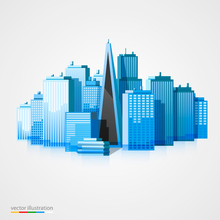 new life: Modern city landscape background. Beautiful vector background