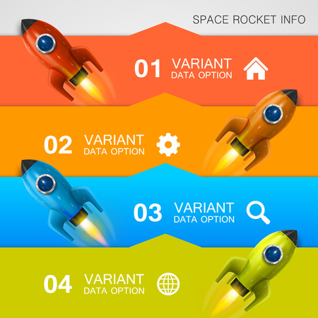 rocket ship: Rocket racing info art cover. Vector Illustration Illustration