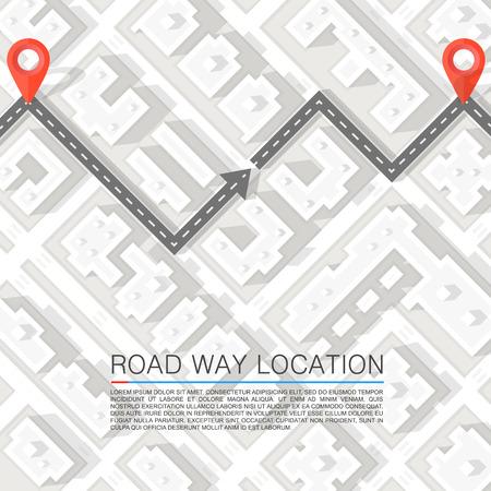 Gepflasterten Weg auf der Straße. Vector Hintergrund Illustration