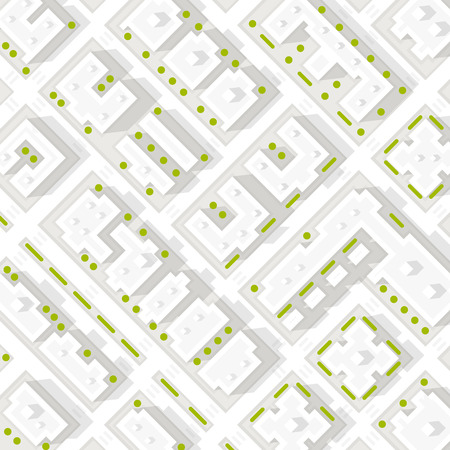 Map of the city in white style. Vector Illustration