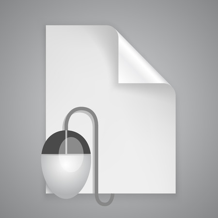 stack of files: Paper symbol mouse art icon. Vector illustration