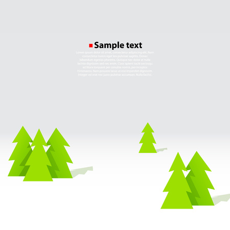 winter tree: Christmas tree forest vector background. Winter concept