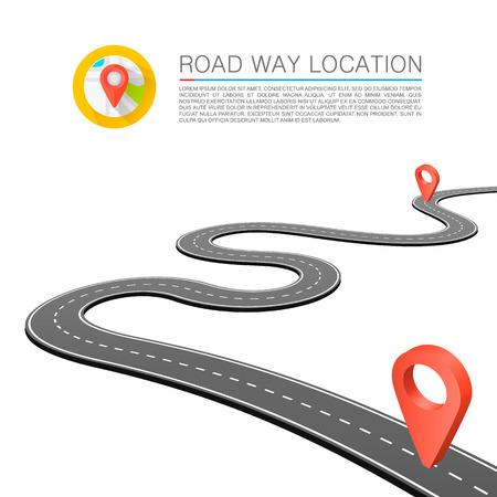 route: Chemin pav� sur la route. Vecteur de fond