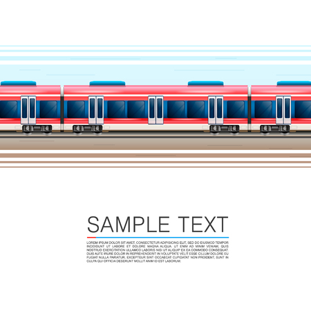high speed railway: Train on a white background in movement. Vector illustration