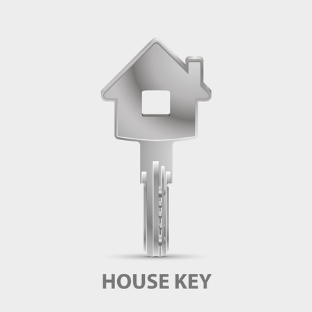 house illustration: Key character house sign art. Vector Illustration