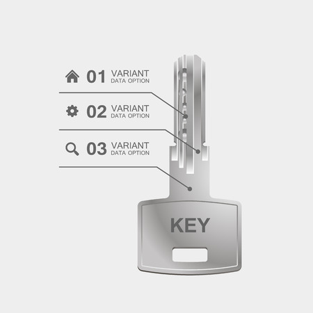 parameters: Key information with parameters sign. Vector Illustration Illustration