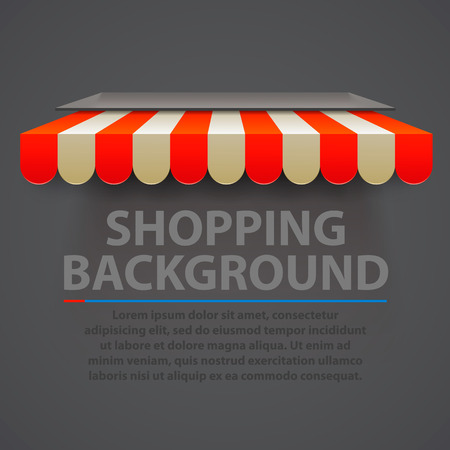 store front: Store striped awning modern background. Vector illustration Illustration
