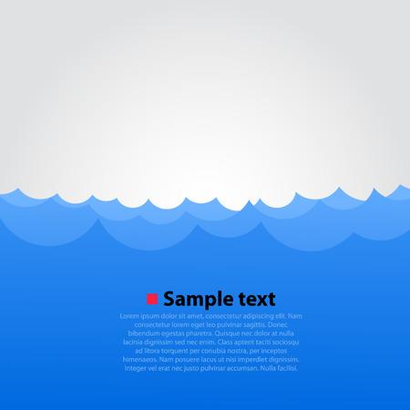 Mar y olas de fondo brillante. Ilustración vectorial Vectores