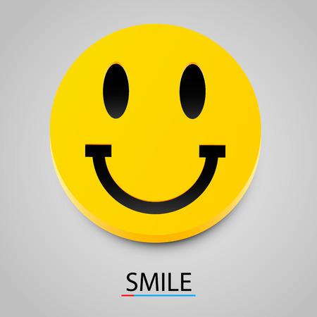 volti: Giallo moderno ridere sorriso felice. Illustrazione vettoriale