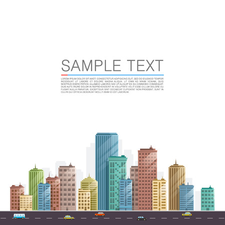 city background: Modern city landscape background. Beautiful vector background