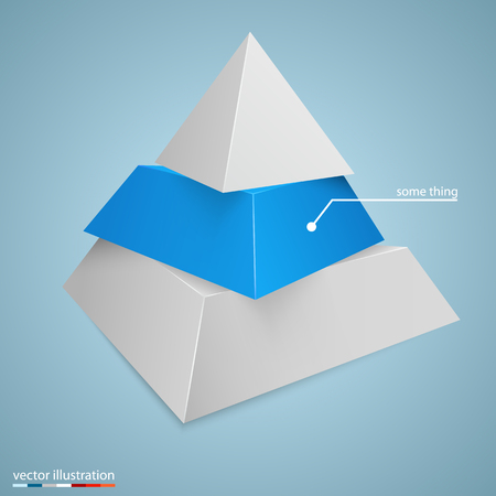 Pyramid icon for business concept background. Vector illustration.