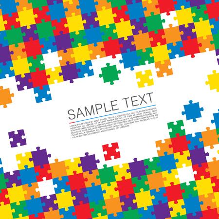 Puzzel cover art kleur achtergrond. vector illustratie Vector Illustratie