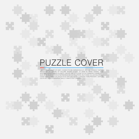 cover art: Puzzle cover background art white. Vector Illustration
