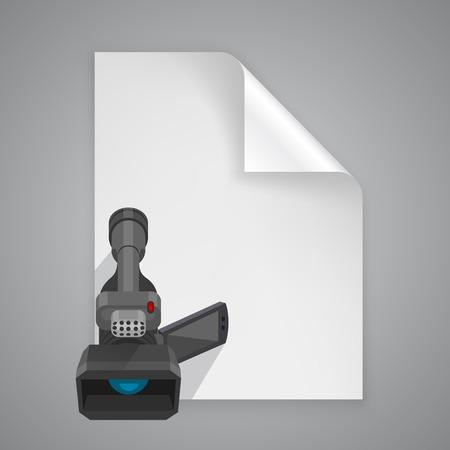 camera symbol: Paper symbol camera art icon. Vector illustration