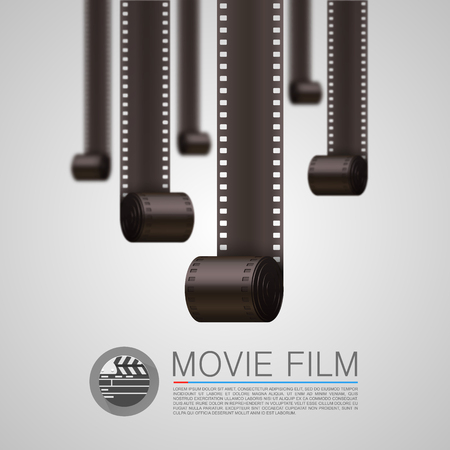 movie screen: Film Strip background art banner. Vector illustration