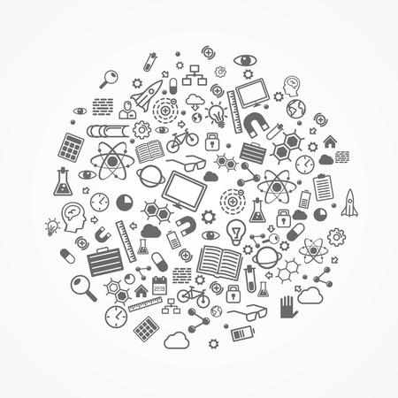 sciences: Set of icons Sciences art. Vector illustration Illustration