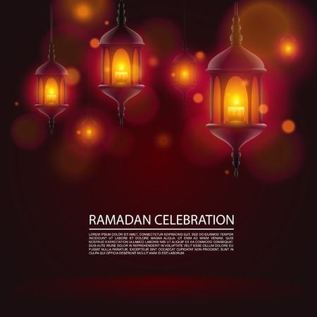 celebration background: Ramadan celebration art banner background. Vector background