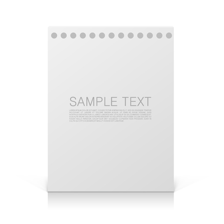info text: Paper blank info text cover. Vector illustration