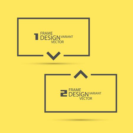 label frame: Design variant frame art label. Vector illustration