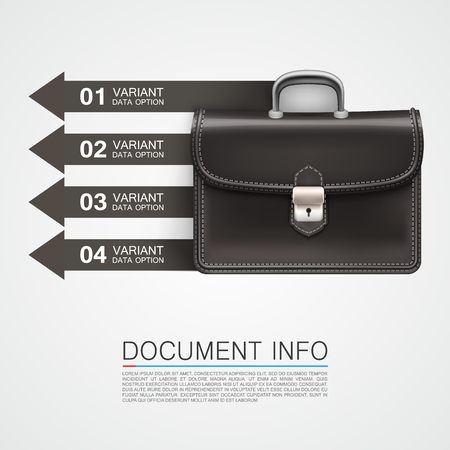 urban decay: Gray bag business info art. Vector illustration