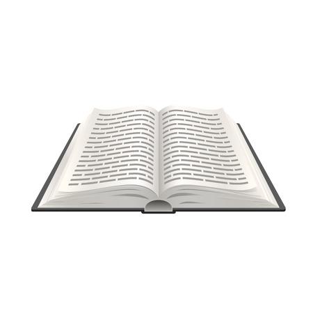 libro abierto: Realista 3d libro abierto, la educación objeto Papel Vectores