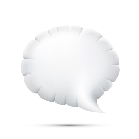 dialogo: Nube icono de chat 3D sobre un fondo blanco