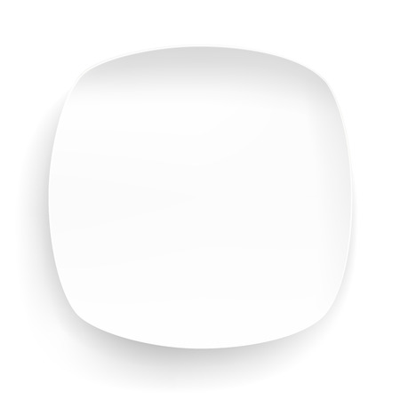 food plate: Plate circle on a white background object food Illustration