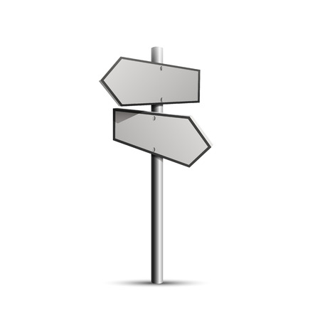 sign post: Column direction 3d, object on a white background Illustration