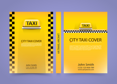 a4: Taxi business card, Traffic cover background, A4 size paper