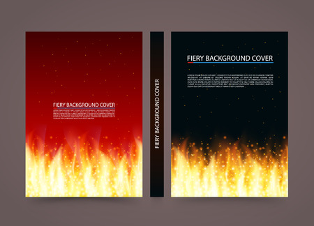 Fire cover background, A4 size paper book