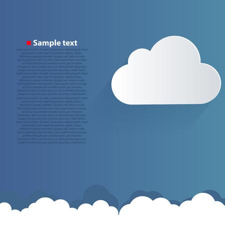 clean sky: Clean vector blue cloud in sky background.