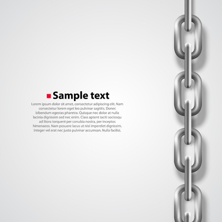 Chrome chain on white background. Vector illustration Illustration