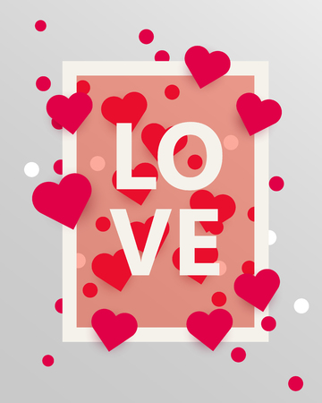 Happy valentines day and weeding design elements. Vector illustration. Love background. Heart love template. Background With Hearts. Love concept. Illustration