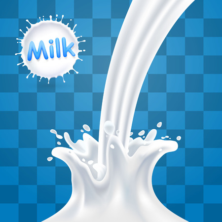 dint: Splashes of milk, Milk splash background transparent background, Vector illustration Illustration
