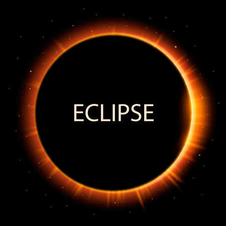 astrophysical: Total eclipse of the sun, eclipse background