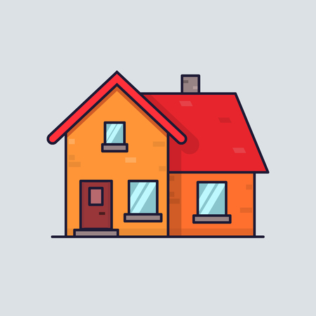 clean home: Isolated flat house. Home concept. Simple and clean style. Home icon for web.
