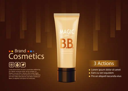 contained: Luxury skin toner, bb cream or peeling scrub contained in tube, dark background. Cosmetic and organic makeup concept.