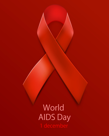 sexual intercourse: Hiv Awareness Red Ribbon. World Aids Day concept.